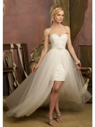 Свадьба - Etui-Linie Herz-Ausschnitt Perlenstickerei Organza Hof-Schleppe Brautkleider