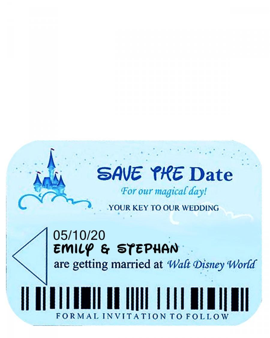 زفاف - Disney World Room Key Inspired Wedding Save the Date Card Template **(For PERSONAL USE ONLY)