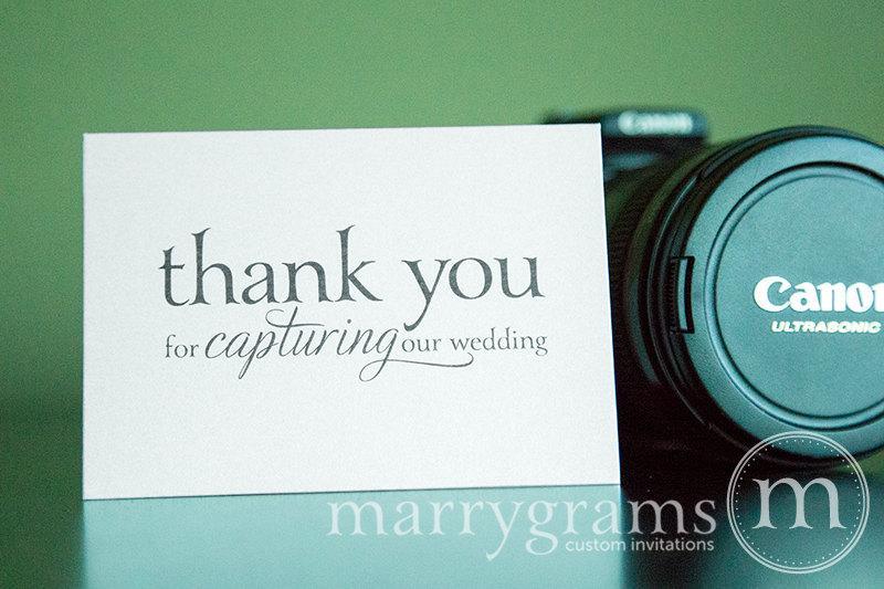 زفاف - Wedding Card to Your Photographer -- Thank You for Capturing Our Wedding - Videographer