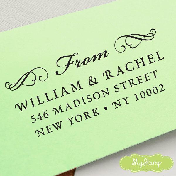 زفاف - CUSTOM pre inked address STAMP from USA, custom address stamp, pre inked address stamp, rsvp stamp, return address stamp with proof - c6-9