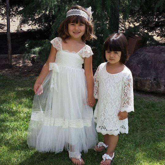 Wedding - Special PRICE For 7 Days Only RITA ivory silk tulle flower girl dress gypsy flower girl dress bohemian flower girl dress