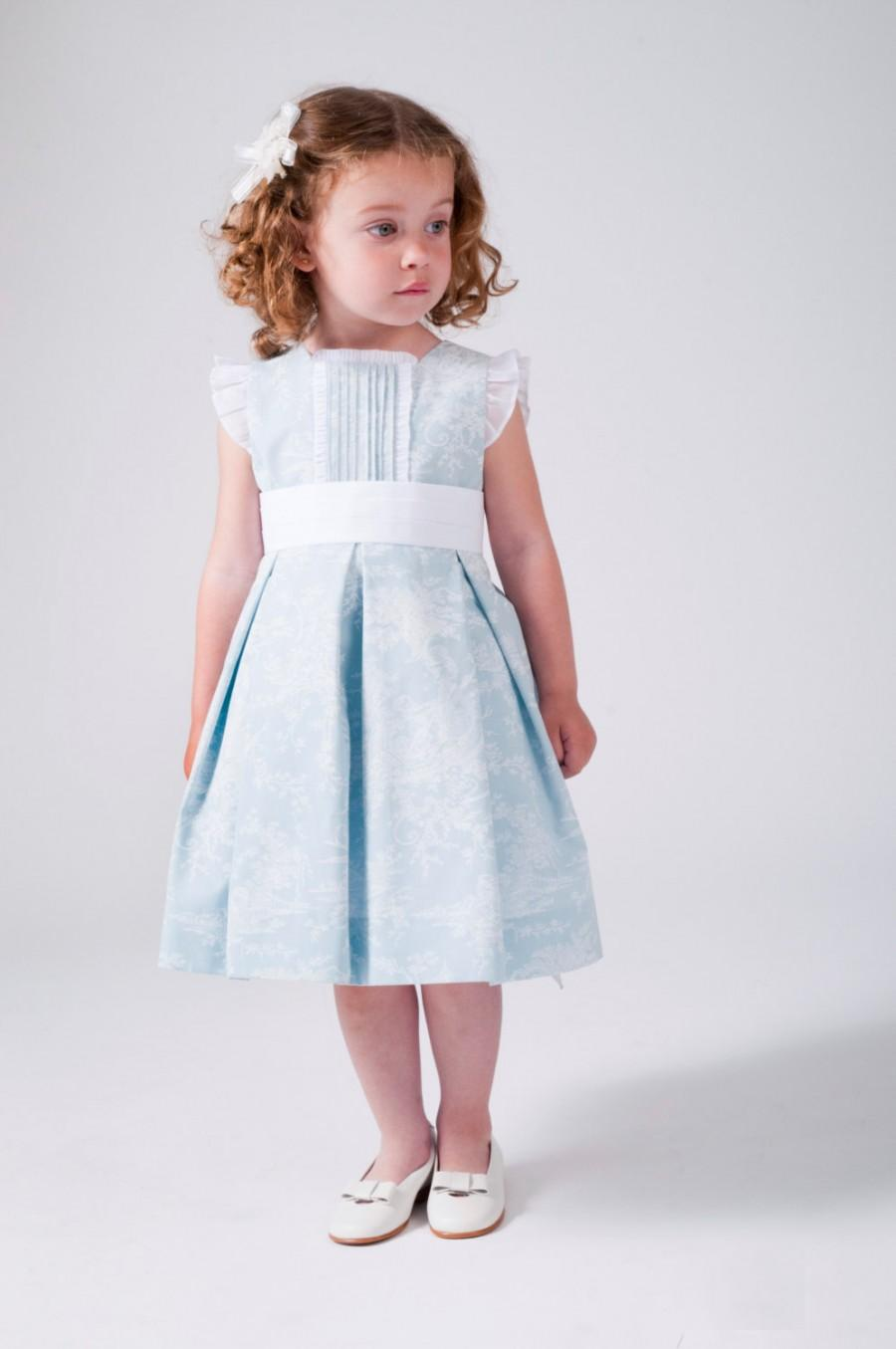 Girls Dresses. Flower Dress For Girl. Light Blue. With Cancan ...