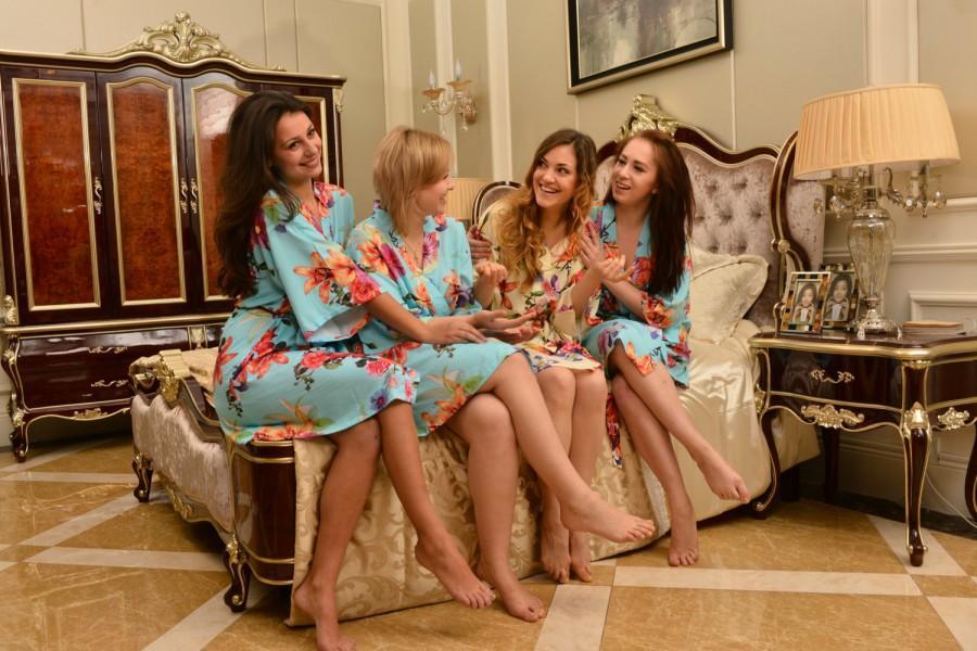 Blue Robe For Bride Robe Cotton Robe Dressing Gown Robe Girls ...