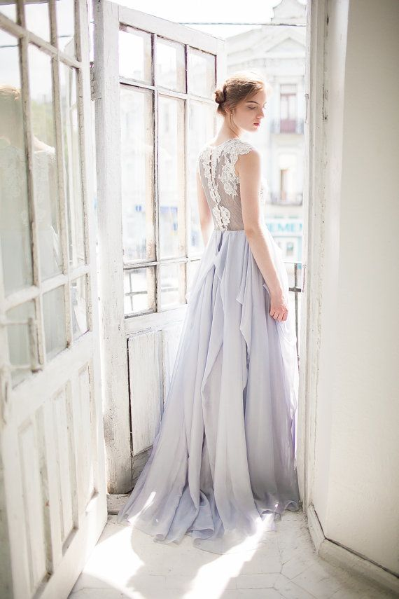 Mariage - Grey Wedding Dress // Iris