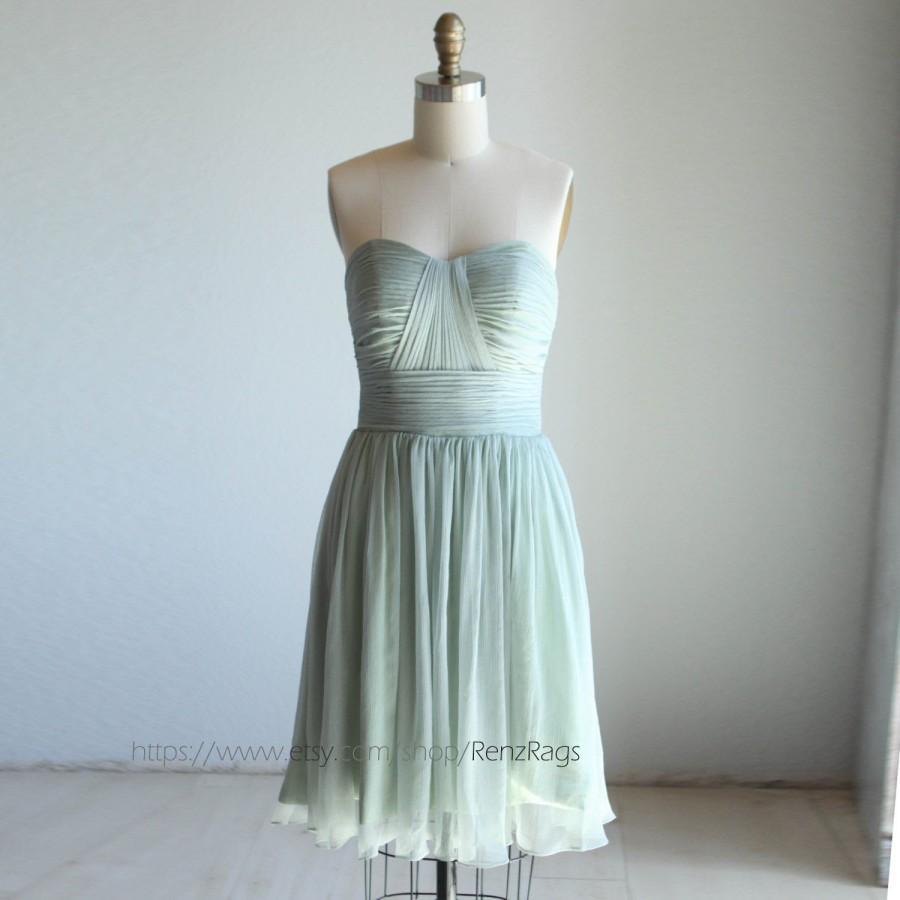 2016 Dusty Shale Bridesmaid Dress, Sweetheart Strapless Dress ...