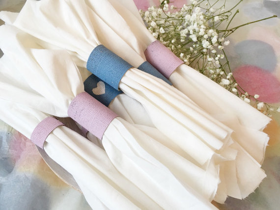 wedding napkin rings burlap napkin rings 10 pcs rustic napkin rings lavender wedding napkin rings purple wedding corn blue wedding - Wedding Napkin Rings