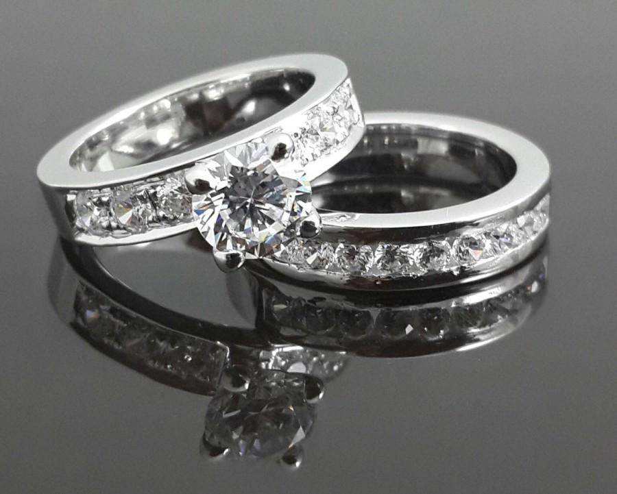 Wedding - 2ct sterling silver bridal set