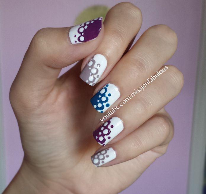 زفاف - Lace Polka Dot Nails