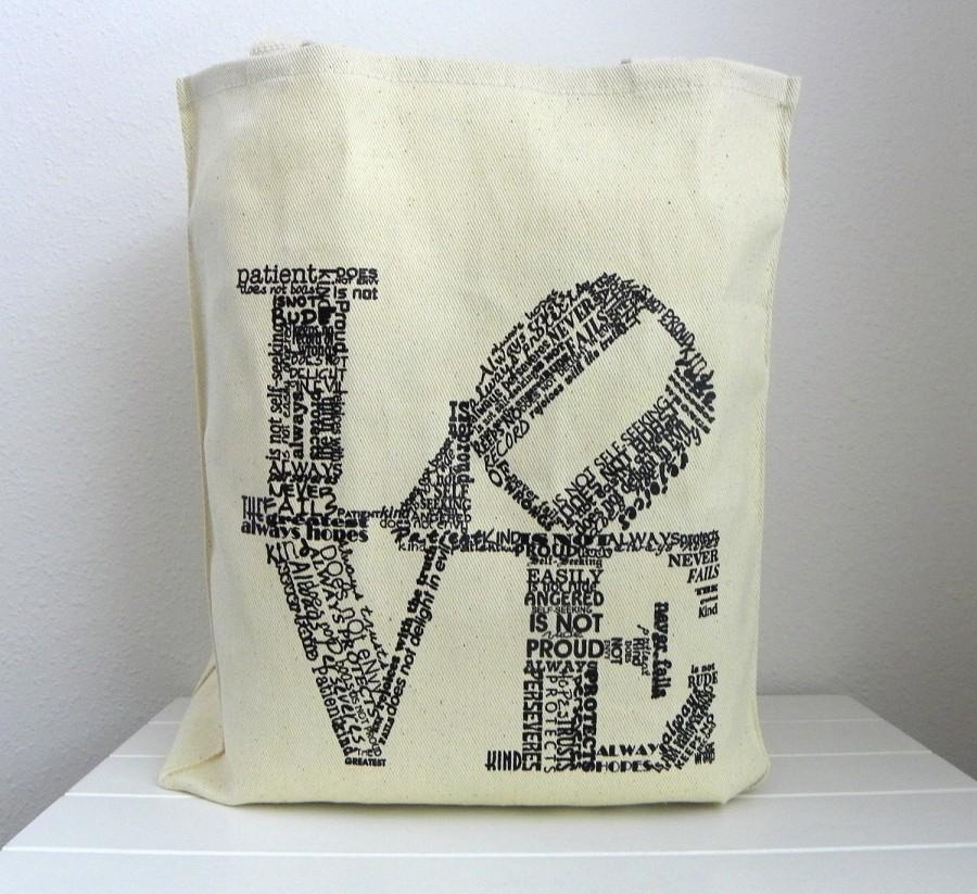 Love Tote Wedding Welcome Bags Favor Never Fails Canvas Guest Is Patient Kind