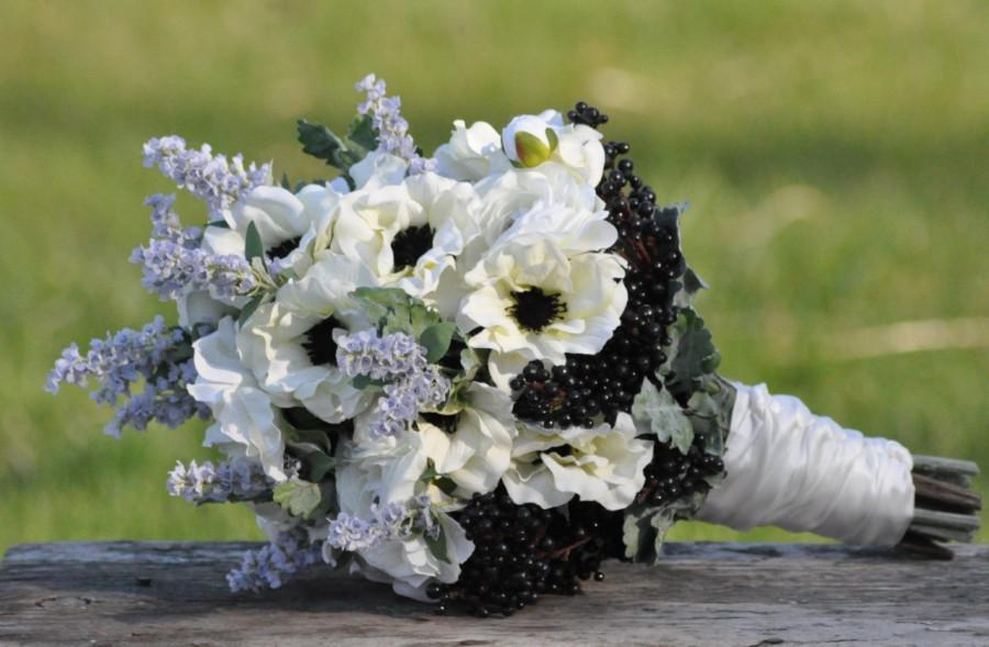 Свадьба - Wedding Bouquet, Keepsake Bouquet, Bridal Bouquet Midsummer night wedding bouquet made of silk flowers.