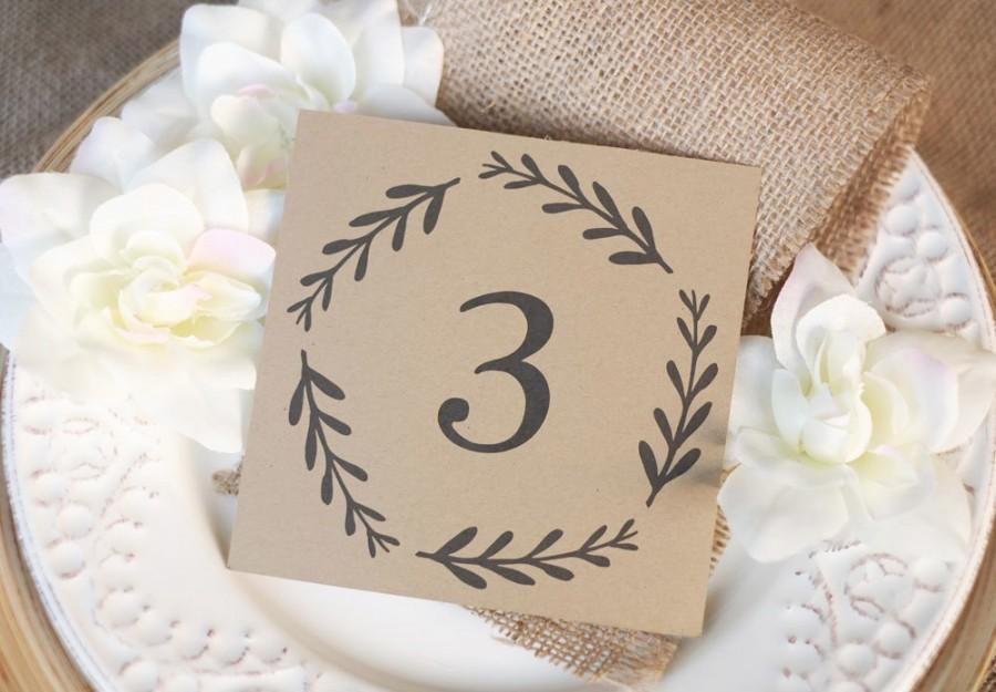 rustic table numbers table tent folded and flat card holder