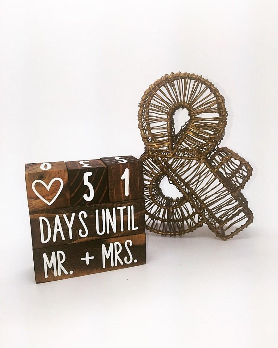 Mariage - Stained Wedding Countdown Blocks