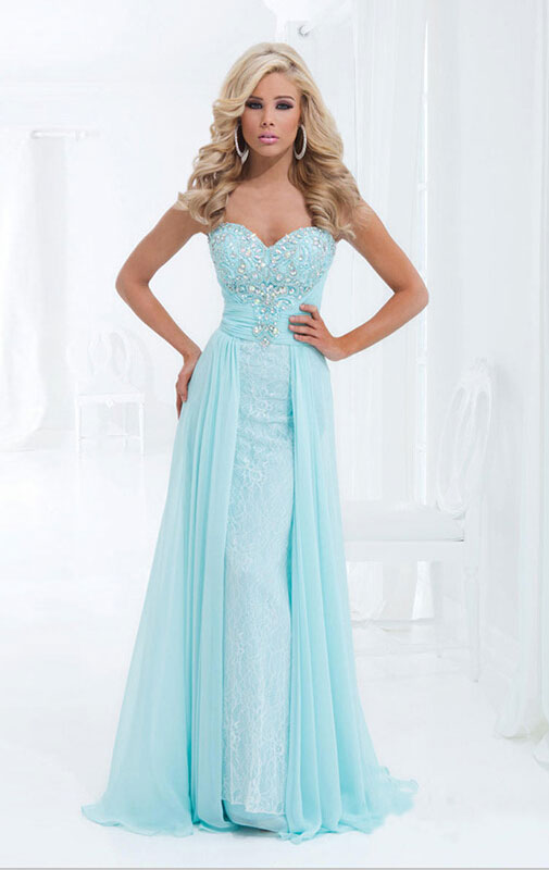 Boda - A-line Sweetheart Sleeveless Chiffon Prom Dresses With Lace Online Sale at GBP99.99