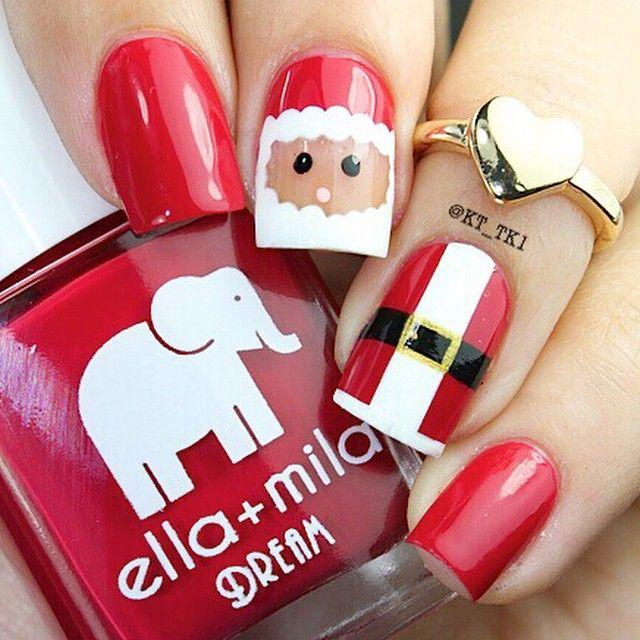 Wedding - Christmas Nail Art: 28 Festive Designs With Tutorials!
