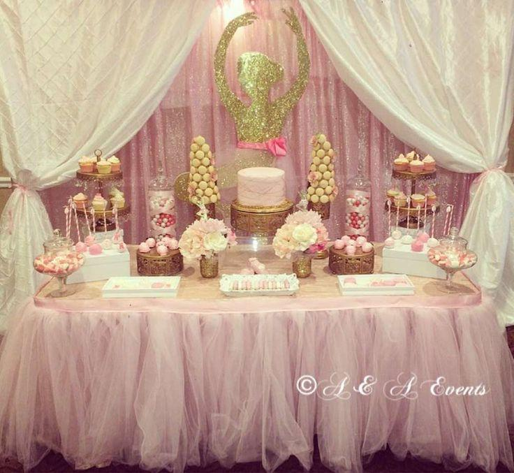 Wedding theme ballerina baby shower party ideas 2498621 for Ballerina decoration
