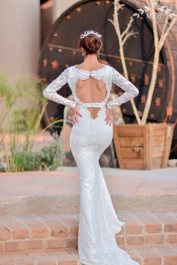 زفاف - Lace Wedding Dress -  Long Sleeve Wedding Dresses