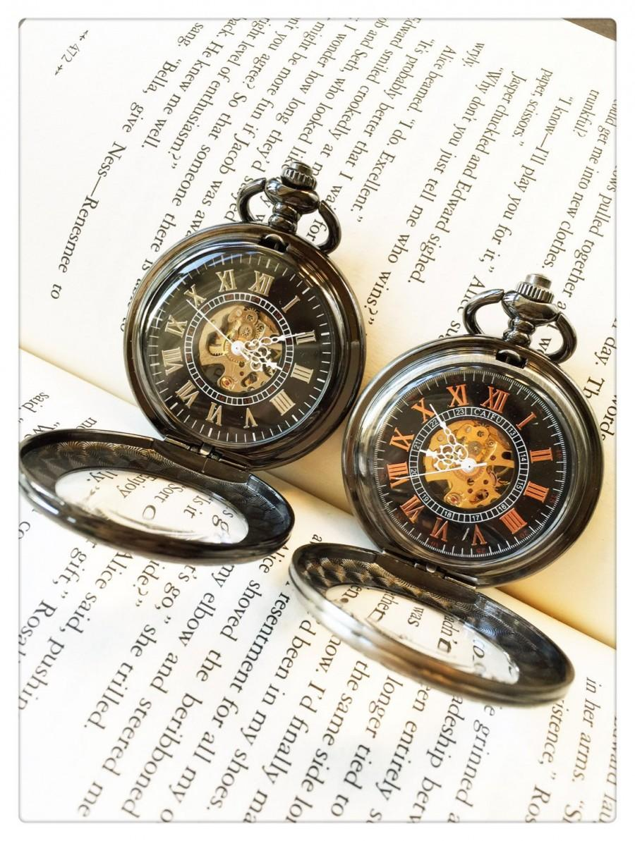 steampunk pocket watch for him and her personalized pocket watch christmas gift for him mechanical watch wedding christmas gifts