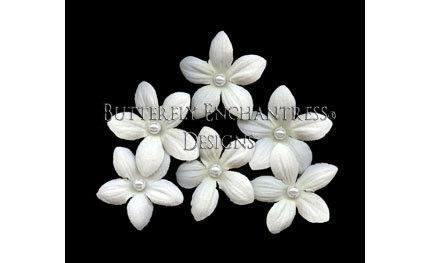 Свадьба - 6 Pearl Creamy White Stephanotis Flower Bridal Hair Pins