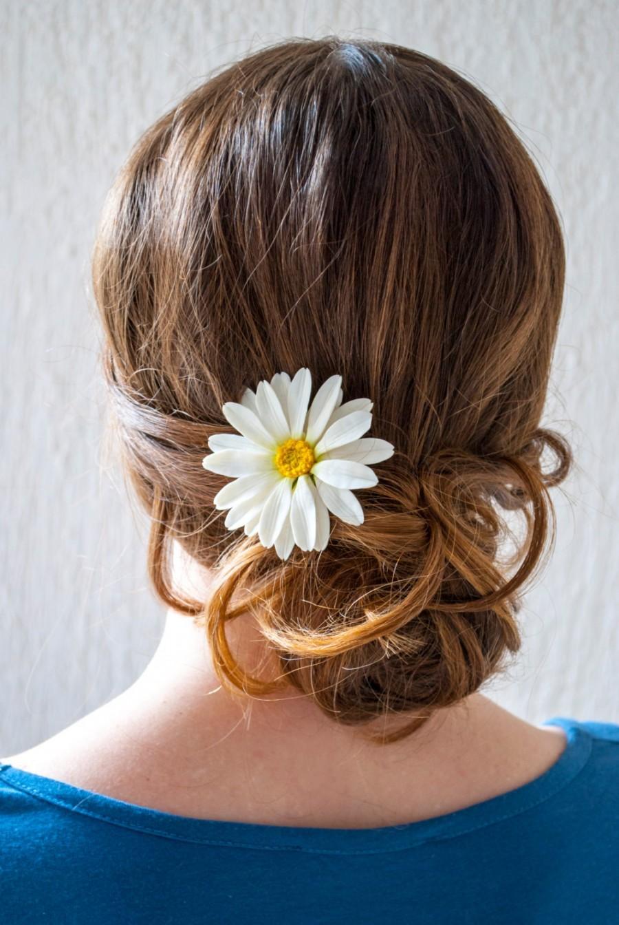 Daisy Hair Pin Wedding Hair Accessory Hair Flower Accessories