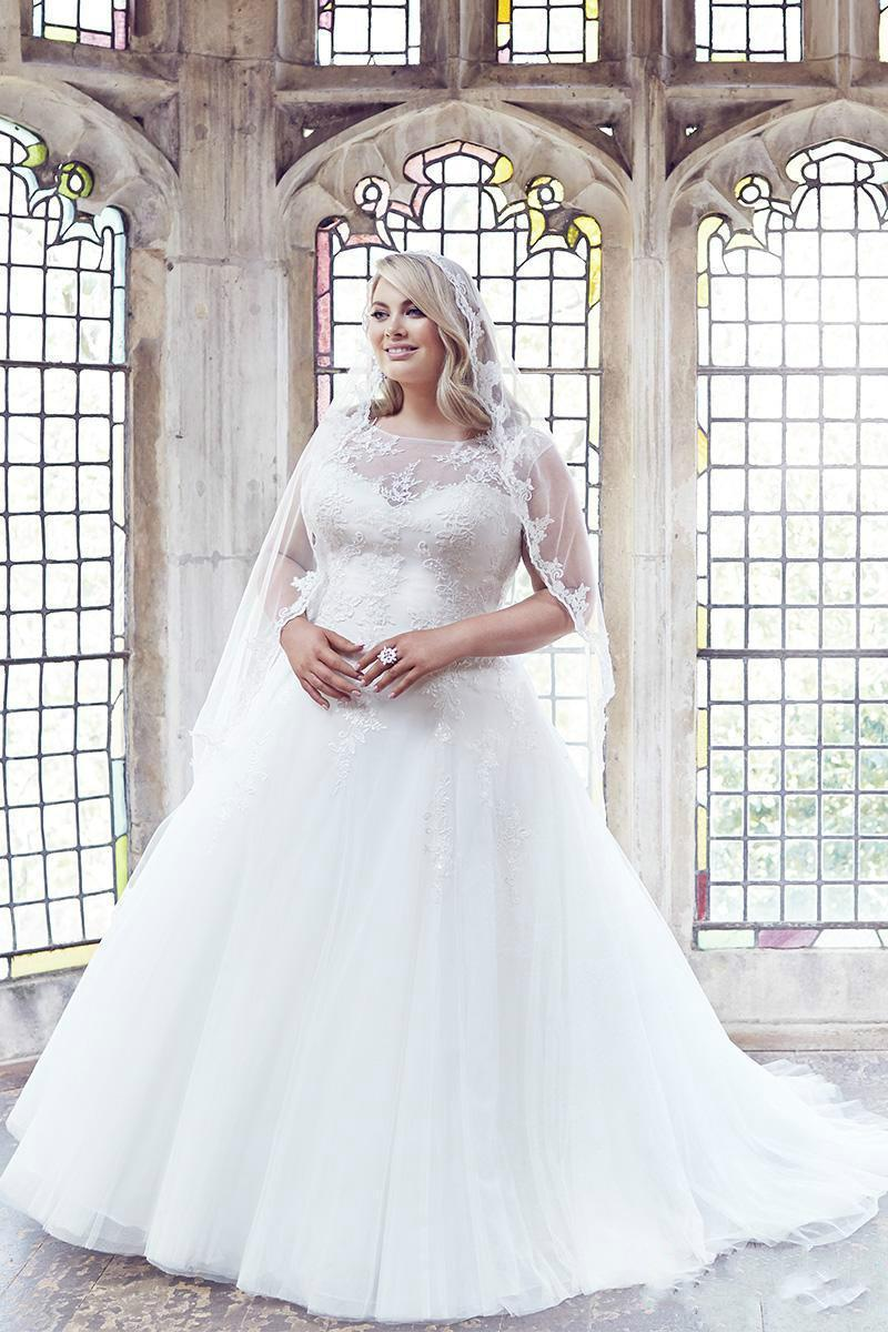 Vintage Plus Size Wedding Dresses 2016 Tulle Cheap Sheer A Line ...