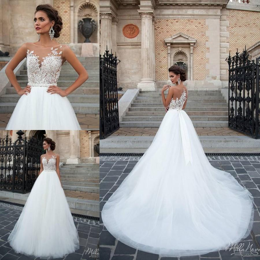 New arrival milla nova illusion wedding dresses 2016 for Shop online wedding dresses