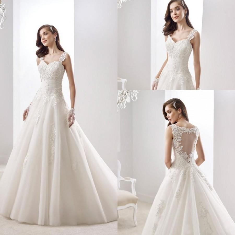 White A Line Wedding Dresses : Charming lace white ivory a line wedding dresses