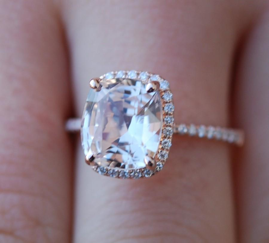 rose gold engagement ring 368ct champagne sapphire