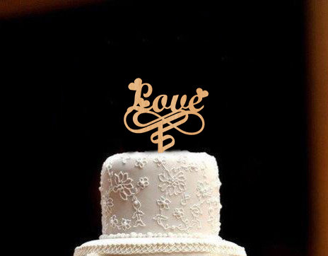 Mariage - LOVE Wedding Cake Topper Rustic Wedding Cake Topper Wood Wedding Cake Topper Valentine Day Valentine gifts