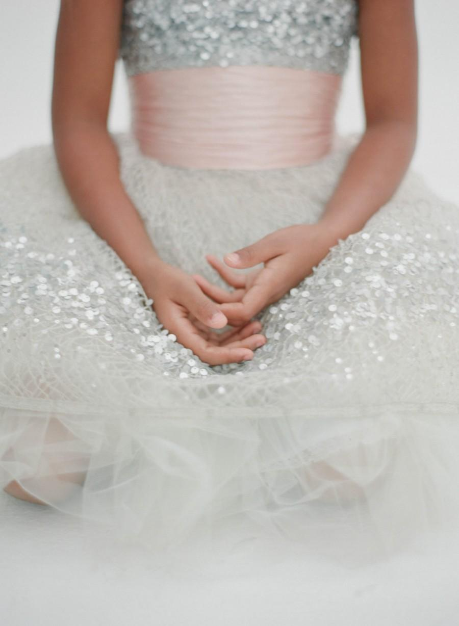 Mariage - Flower Girl Sash (your choice of color and style)