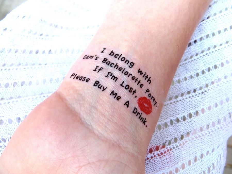 زفاف - SALE Bachelorette Party Temporary Tattoo - As seen on Lauren Conrad - 10 plus FREE Bride Tattoo -I'm Lost, Please Buy Me A Drink