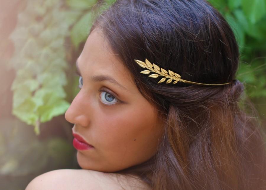 Olive Leaf Greek Dess Headband Leaves Bridal Hair Accessories Grecian Crown Gold Wreath Laurel Roman