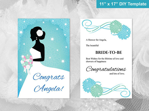 diy printable bridal shower congratulations card