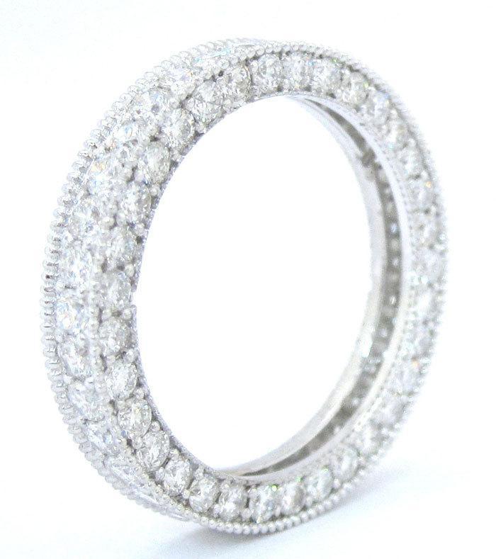 Mariage - Round cut eternity diamond band anniversary 2.00ctw