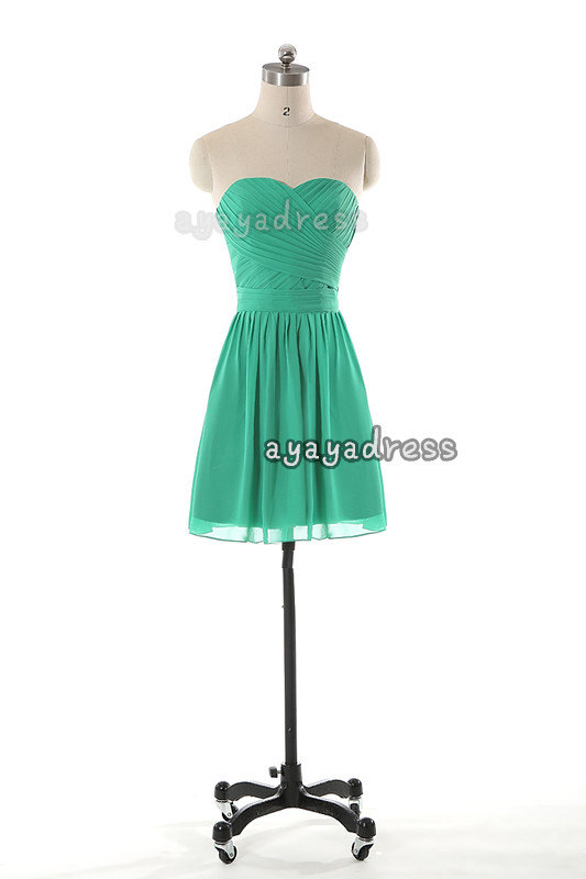 زفاف - Sweetheart neckline Bridesmaid Dress,chiffon bridesmaid Dress,evening dress,cheap homecoming dress,short bridesmaid dress,Prom Dresses