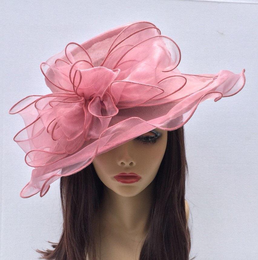 Blush Pink Organza Kentucky Derby Hat 2fdd91c5739