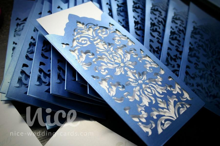 Digital  SVG File - DAMASK Wedding Invitation ENVELOPE - Laser Cut