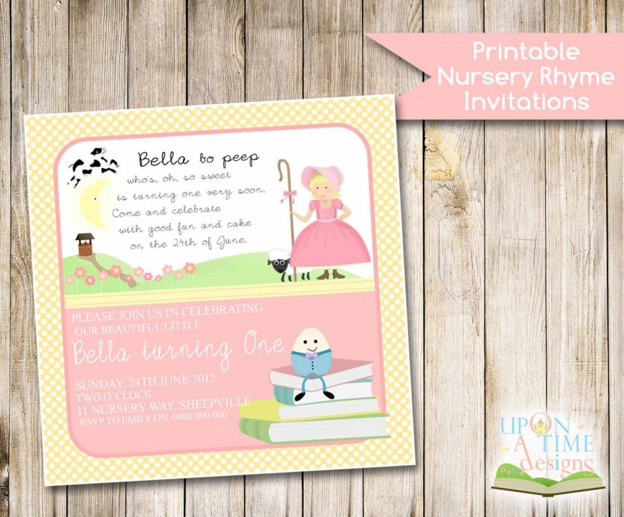 Printable NURSERY RHYME Invitation