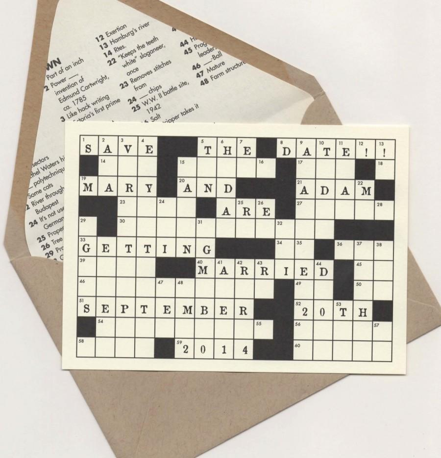 Mariage - Crossword Puzzle Save the Date