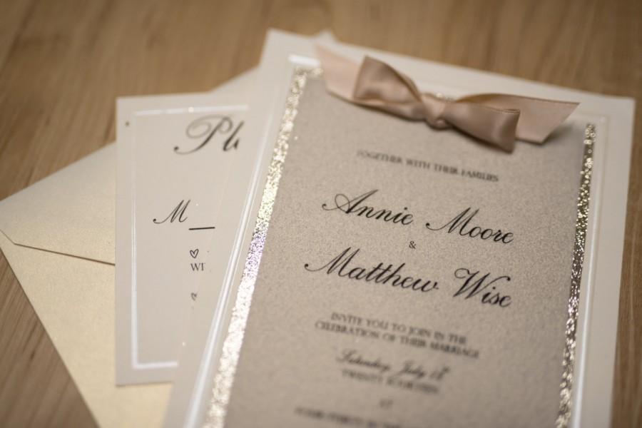 Mariage - Glitter Invitation and RSVP Card // Wedding // Sweet Sixteen // Bat Mitzvah