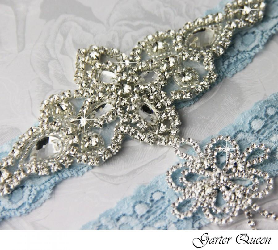 Blue Lace Garter Set, Blue Wedding Garter Set, Lace Wedding Garter ...