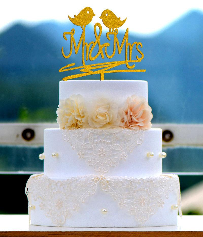 Hochzeit - Wedding Cake Topper Monogram Mr and Mrs cake Topper Design Personalized with YOUR Last Name 016