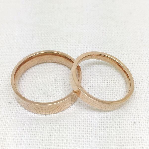 Mariage - 2pcs,rose golden ring,couple ring set, his and her promise rings, best friend rings, sister rings, friendship rings, free engraving