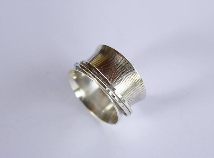 Mariage - spinner ring,STERLING SILVER spinner ring,wide band ring,spinning.fidget ring.worry ring,vintage style ring