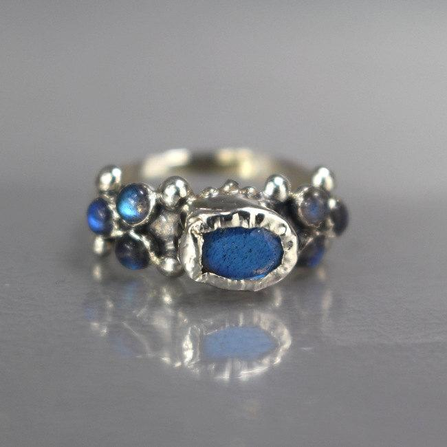 Mariage - Personalized Ring, Labradorite Caterina Ring, Personalized Women, Gemstone Ring, Engagement Ring, Gift for Women