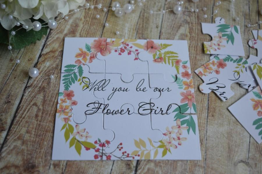 Mariage - Will you be my Flower Girl, Puzzle Invitation, Personalized Puzzle, Flower Girl gift, Flower Girl proposal, Ask Flower Girl
