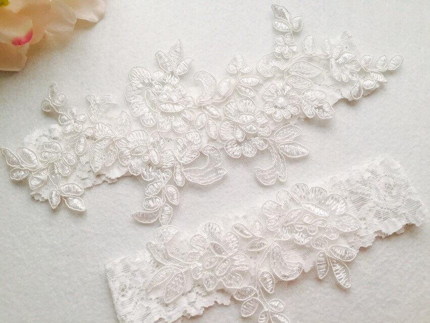 Wedding Garter Bridal Garter Wedding Lace GarterIvory Lace Garter Toss Garter 2499272
