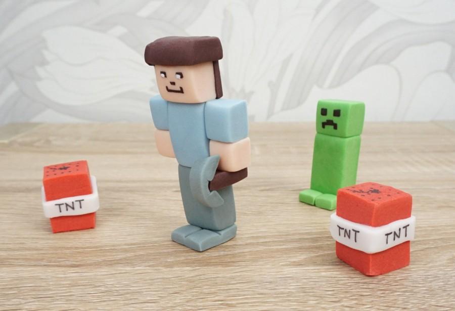 Hochzeit - MineCraft Cake Topper