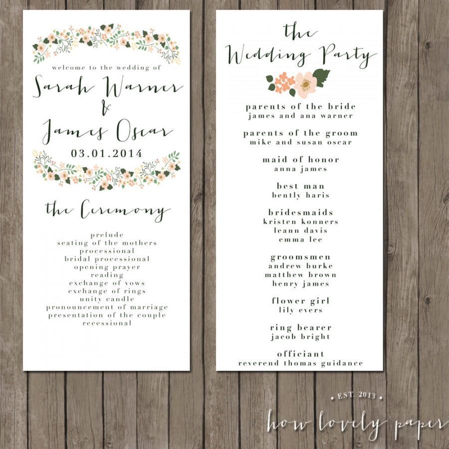 Printable Wedding Program The Sophie Collection 2499377 Weddbook