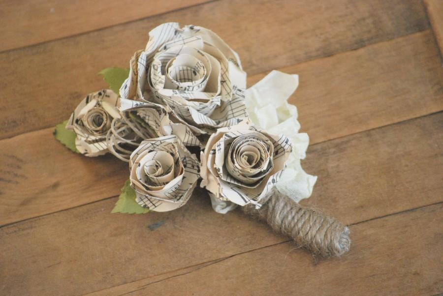 Свадьба - Old Sheet Music Corsage