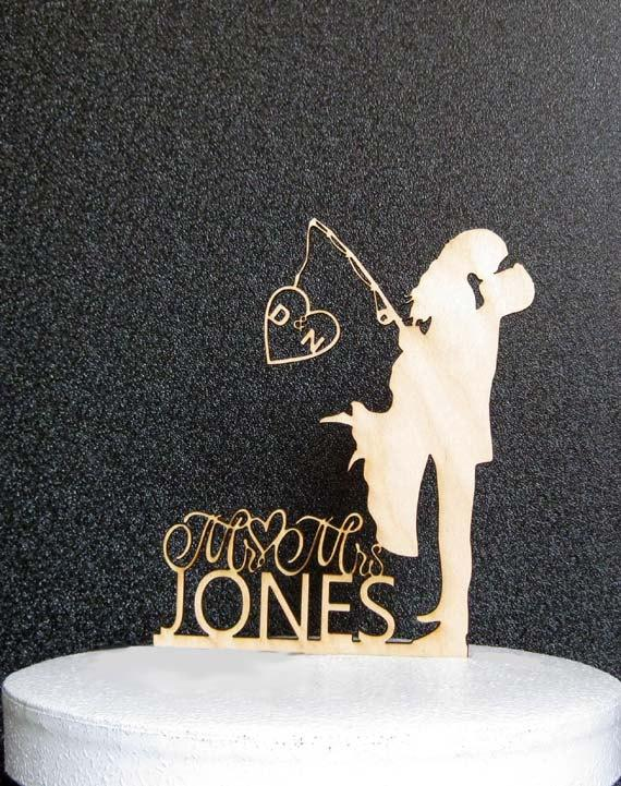 Personalized Rustic Wood Wedding Cake Topper Wedding Bride And